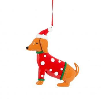Sass And Belle Dachshund in Jumper Christmas Decoration