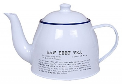 Retro Teapot - Raw Beef Tea Recipe Design
