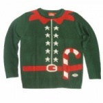 Crazy Granny Christmas Elf Outfit Novelty Christmas Jumper