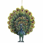 Gisela Graham Acrylic Fantail Peacock Decoration
