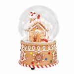 Gisela Graham Gingerbread House Musical Snow Dome