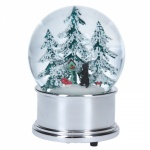 Gisela Graham Black Cat with Trees Musical Snow Globe