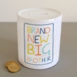 Brand New Big Brother Ceramic Keepsake Money Box