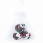 Felt So Good Bag of 3 Christmas Pudding Hanging Decorations