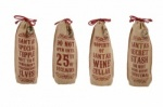 Vintage Style Jute Christmas Bottle Holders Choice Of Designs