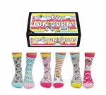 United Oddsocks Unicorn Design  Novelty Ladies Odd Socks