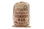Vintage Jute Delivered By Reindeer Mail Christmas Santa Sack
