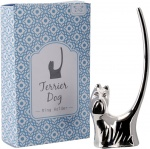 Gift Boxed Silver Plated Terrier Dog Ring Holder