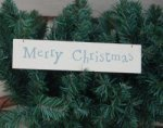 East of India Merry Christmas Decorative Plaque