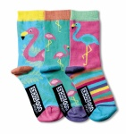 United Oddsocks - Girl's Novelty Flamingo Socks- Size 12-5.5