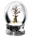 Heaven Sends Golden Labrador Christmas Snow Globe