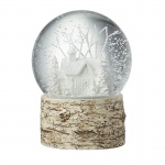 Heaven Sends White House & Trees Christmas Snowglobe