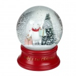 Heaven Sends Baby's First Christmas Snowglobe