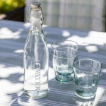 Garden Trading Small Glass Lidded Tap Water Bottle