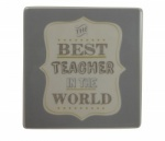 Gisela Graham Best Teacher Ceramic Coaster Gift