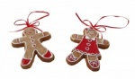 Gisela Graham Gingerbread Boy and Girl Christmas Decorations
