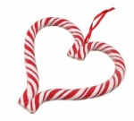 Gisela Graham Christmas Tree Decoration Candy Cane Heart