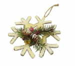 Gisela Graham Christmas Tree Snowflake and Fir Decoration