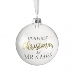Heaven Sends Our First Christmas as Mr & Mrs Bauble