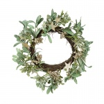 Heaven Sends Mistletoe Wreath with Gold Berries
