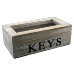 Gisela Graham Natural Keys Glass Lid Storage Box