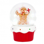 Gisela Graham Gingerbread Man Miniature Snowglobe Decoration