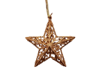 Gisela Graham Chocolate Coloured Christmas Star Tree Decoration