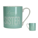 Gisela Graham Lovely Sister Mug