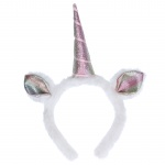 Gisela Graham Multicoloured Unicorn Fabric Headband