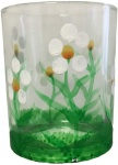 Giftware Trading Glass Daisy Design Tea Light Holder