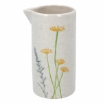 Gisela Graham Yellow Daisy and Lavender Ceramic Jug