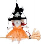 Gisela Graham Wool Witch Mouse Halloween Decoration
