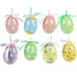 Gisela Graham Easter  Decorations - Set Of 8 Pastel Eggs