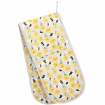 Gisela Graham Double Oven Glove - Bee And Buttercup Design