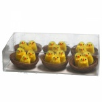 Gisela Graham Easter Chenille Chicks In Nests Decorations
