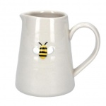 Gisela Graham Small Ceramic Jug - Embossed Bee Detail