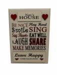 Nan's House Rules Novelty Wooden Sign