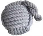 Nautical Weighted Grey Rope Ball Doorstop