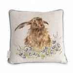 Wrendale Designs Bright Eyes Luxury Hare Cushion