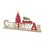 Heaven Sends Wooden Christmas Sign with Car