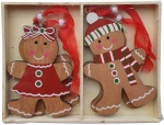 Heaven Sends Hanging Gingerbread Boys & Girls Set