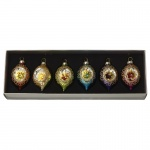 Heaven Sends Set of 6 Colourful Dimpled Baubles