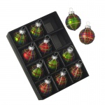 Heaven Sends Set of 12 Red & Green Mini Christmas Tree Baubles