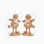 Heaven Sends Pair of Standing Gingerbread People Decorations