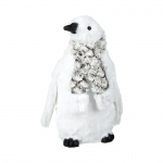 Heaven Sends White Penguin with Scarf Standing Ornament
