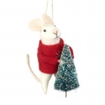 Heaven Sends Hanging Mouse With Tree Christmas  Decoration