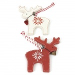 Heaven Sends Set of 2 Scandi Reindeer Christmas Decorations