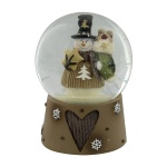 Christmas Snowglobe Decoration Featuring Cute Snowman