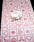 Peggy Wilkins Pvc Christmas Tablecloth Scandi Style