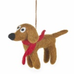 Felt So Good Jasper The Dog Christmas Tree Decoration